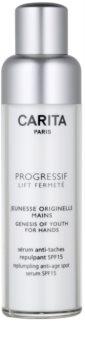 Carita Progressif Lift Fermeté crema de maini cu efect de reintinerire impotriva petelor pigmentate SPF 15