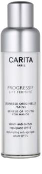 Carita Progressif Lift Fermeté crema de maini cu efect de reintinerire impotriva petelor pigmentate SPF15