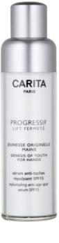 Carita Progressif Lift Fermeté verjüngende Handcreme gegen Pigmentflecken LSF 15