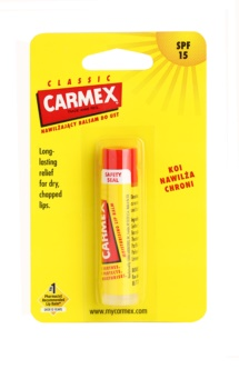 Carmex Classic bálsamo hidratante para labios en barra SPF 15