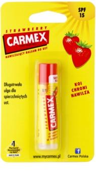 Carmex Strawberry bálsamo hidratante para lábios em stick SPF 15
