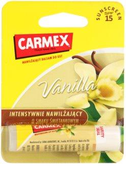 Carmex Vanilla baume à lèvres hydratant en stick SPF 15
