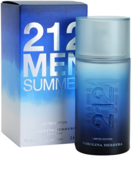 Carolina Herrera 212 Summer Men eau de toilette pentru barbati 100 ml editie limitata