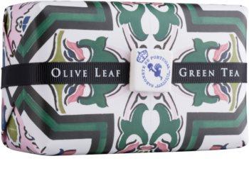 Castelbel Portuguese Tile Olive Leaf & Green Tea sabão luxuoso