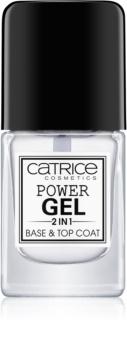 Catrice Power Gel 2 in1 основа та закріплювач для лаку для нігтів
