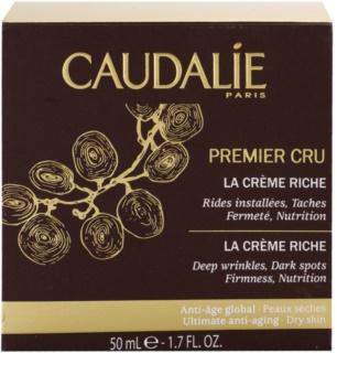 Caudalie Premier Cru festigende und nährende Creme gegen tiefe Falten