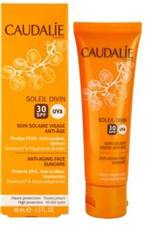 Caudalie Soleil Divin krema proti gubam za sončenje SPF 30