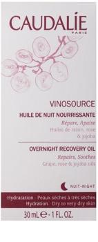 Caudalie Vinosource Herstellende Nachtolie  voor Droge tot Zeer Droge Huid