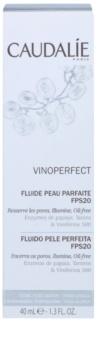 Caudalie Vinoperfect rozjasňujúci hydratačný fluidný krém pre zjednotenie farebného tónu pleti