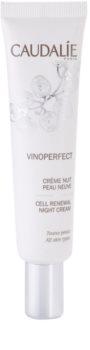 Caudalie Vinoperfect aufhellende Nachtcreme gegen Pigmentflecken