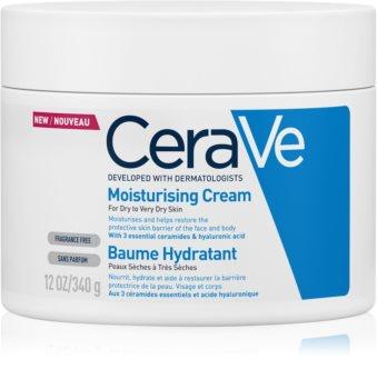 CeraVe Moisturizers crema hidratante para rostro y cuerpo para pieles secas y muy secas