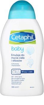 Cetaphil Baby emailsão de limepza para cabelo e corpo para bebés 0+