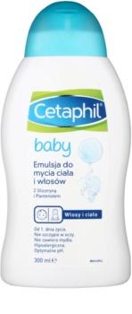 Cetaphil Baby umývateľná emulzia na telo a vlasy pre deti od narodenia