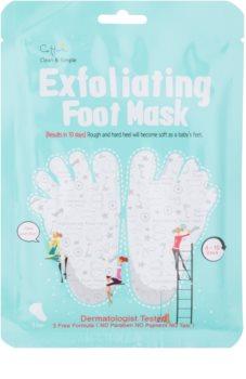 Cettua Clean & Simple eksfoliacijska maska za razpokana stopala + nogavice