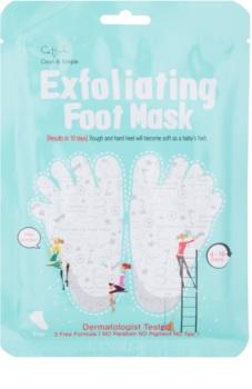 Cettua Clean & Simple απολεπιστική μάσκα για σκασμένο δέρμα των ποδιών + κάλτσες