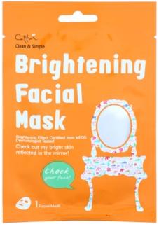 Cettua Clean & Simple arcmaszk bőrvilágosító hatással