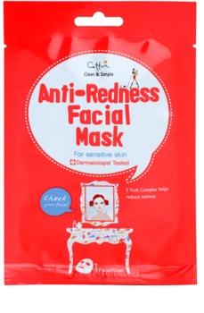 Cettua Clean & Simple plátenná maska pre citlivú pleť so sklonom k začervenaniu