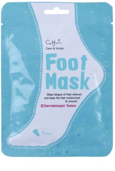 Cettua Clean & Simple chaussettes exfoliantes pour adoucir et hydrater la peau des pieds
