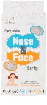 Cettua Pure White reinigendes Pflaster für das Gesicht