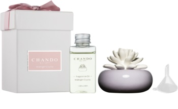 Chando Blooming Midnight Crystal Aroma Diffuser With Filling 40 ml  (Violet)
