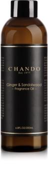 Chando Fragrance Oil Ginger & Sandalwood náplň do aroma difuzérů 200 ml