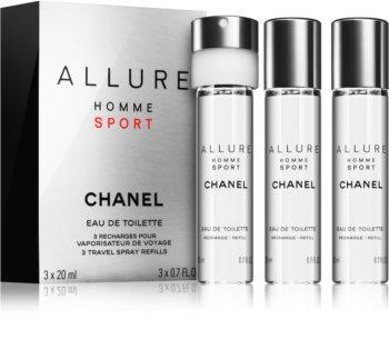 4903bd1a6 Chanel Allure Homme Sport eau de toilette para homens 3 x 20 ml recarga