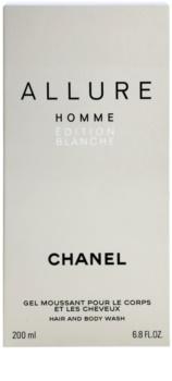 Chanel Allure Homme Édition Blanche sprchový gél pre mužov 200 ml