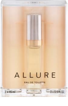 Chanel Allure eau de toilette pentru femei 45 ml (1x reincarcabil + 2x rezerva)