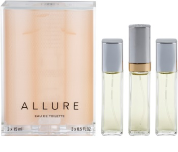 Chanel Allure eau de toilette (1x recargable + 2x recarga) para mujer