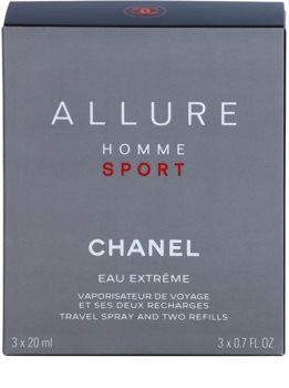 Chanel Allure Homme Sport Eau Extreme toaletná voda pre mužov 3 x 20 ml (1x plniteľná + 2x náplň)
