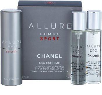 Chanel Allure Homme Sport Eau Extreme eau de toilette pentru barbati 3 x 20 ml (1x reincarcabil + 2x rezerva)
