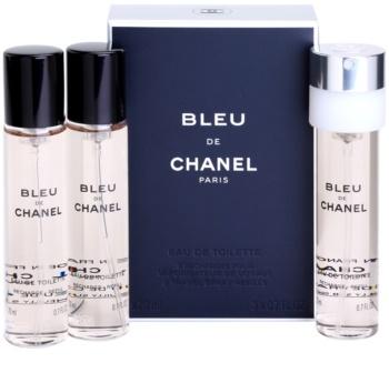Chanel Bleu de Chanel Eau de Toilette für Herren 3 x 20 ml Ersatzfüllung