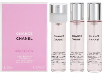 Chanel Chance Eau Tendre Eau de Toilette for Women 3x20 ml (3x Refill)