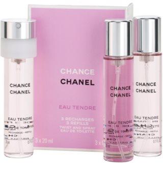 Chanel Chance Eau Tendre eau de toilette per donna 3x20 ml (3x ricariche)