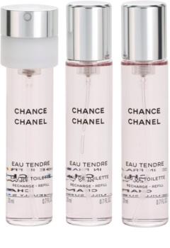 Chanel Chance Eau Tendre Eau de Toilette für Damen 3x20 ml (3 x Füllung)