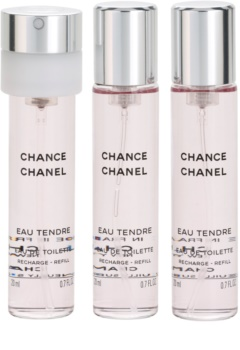 Chanel Chance Eau Tendre eau de toilette nőknek 3x20 ml (3 x utántöltő)