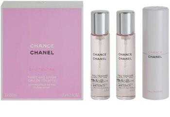 Chanel Chance Eau Tendre Eau de Toilette für Damen 3 x 20 ml (1x Nachfüllbar + 2x Nachfüllung)