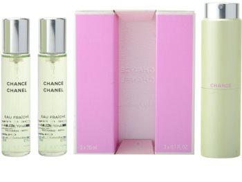 Chanel Chance Eau Fraîche туалетна вода для жінок 3x20 мл (1x мінний флакон + 2x Наповнювач)