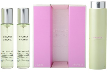Chanel Chance Eau Fraîche eau de toilette (1x reincarcabil + 2x rezerva) pentru femei 3x20 ml
