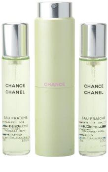 Chanel Chance Eau Fraîche Eau de Toilette Damen 3x20 ml (1x Nachfüllbar + 2x Nachfüllung)