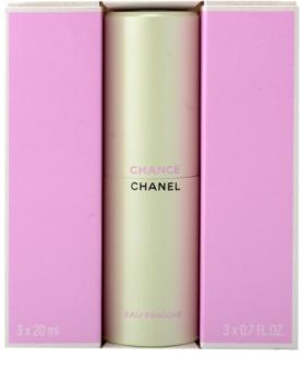 Chanel Chance Eau Fraîche woda toaletowa dla kobiet 3x20 ml (1x napełnialny + 2x napełnienie)