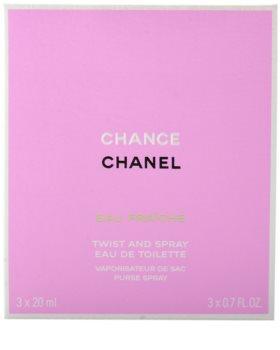 Chanel Chance Eau Fraîche eau de toilette pentru femei 3x20 ml (1x reincarcabil + 2x rezerva)