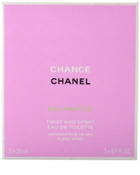 Chanel Chance Eau Fraîche toaletná voda pre ženy 3x20 ml (1x plniteľná + 2x náplň)