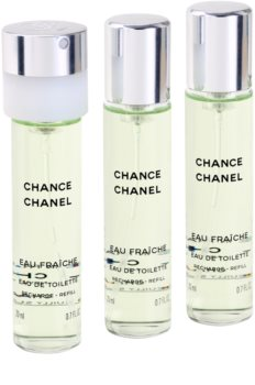 Chanel Chance Eau Fraîche туалетна вода для жінок 3x20 мл (3 наповнення)