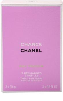 Chanel Chance Eau Fraîche eau de toilette pentru femei 3x20 ml 3 reincarcari