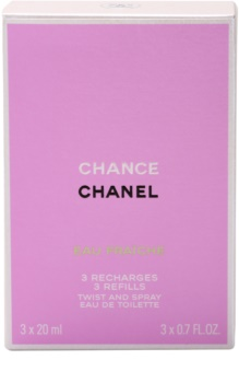 Chanel Chance Eau Fraîche toaletna voda za ženske 3x20 ml (3x polnilo)