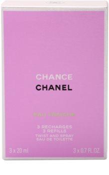 Chanel Chance Eau Fraîche toaletní voda pro ženy 3x20 ml (3 x náplň)