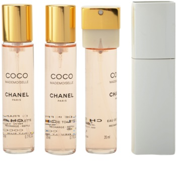 Chanel Coco Mademoiselle Eau de Toilette for Women 3x20 ml (1x Refillable + 2x Refill)