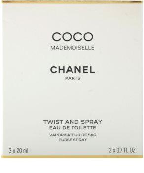 Chanel Coco Mademoiselle toaletna voda za ženske 3x20 ml (1x  polnilna + 2x polnilo)