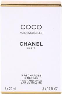Chanel Coco Mademoiselle eau de toilette pentru femei 3x20 ml 3 reincarcari